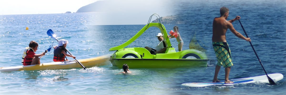 Pedalos and Kayaks for rent in Skiathos