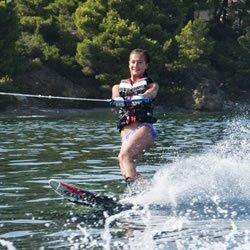Skiathos Waterskiing , Nicky just learn Mono skiing in Skiathos @ Stefanos Ski School