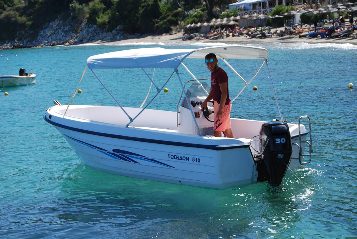 'KATERINA' Boat for rent - 4 stroke big foot engine 1 Skiathos Boat Hire, Waterski & Water Sports Center