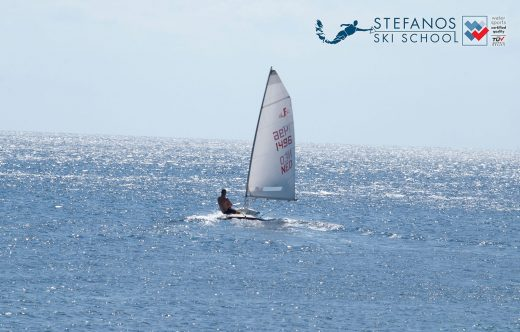 sailing in Skiathos with Laser type boats