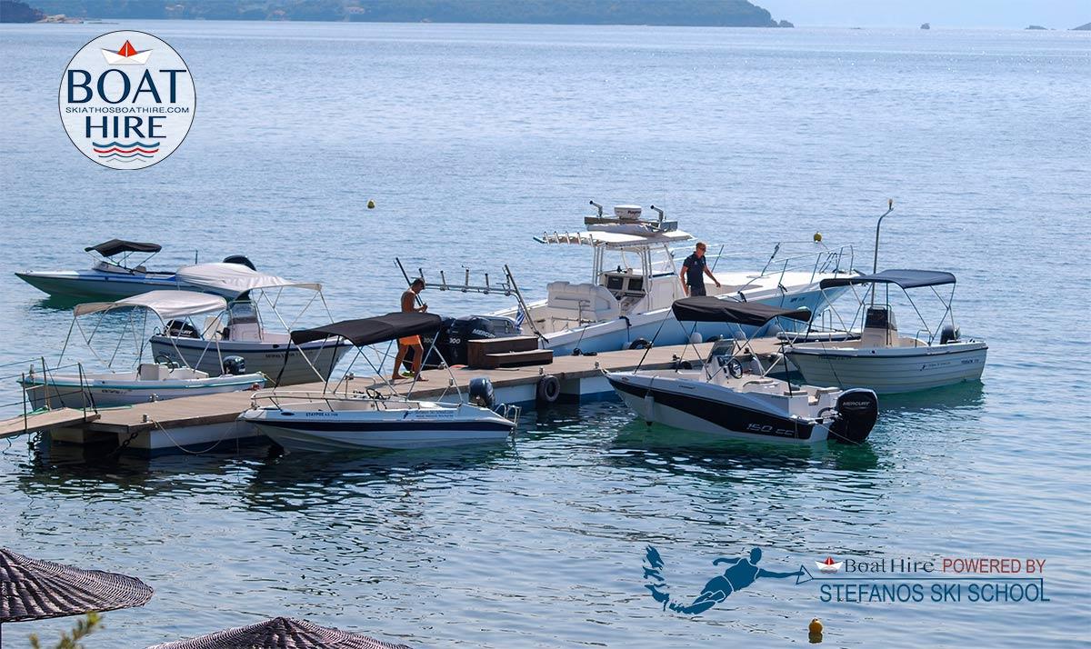 SKIATHOS BOAT HIRE , our floating platform