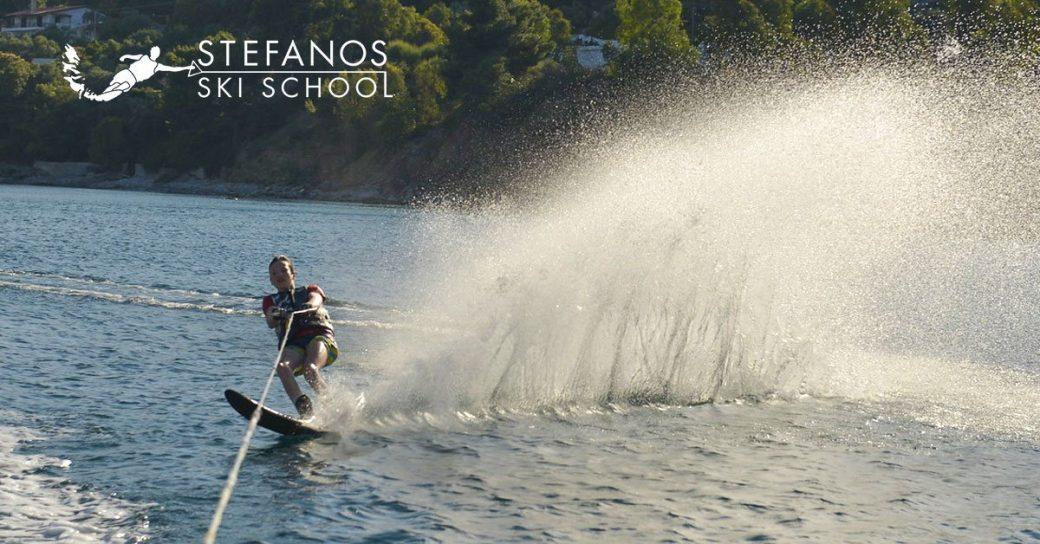 Waterski lessons in Skiathos