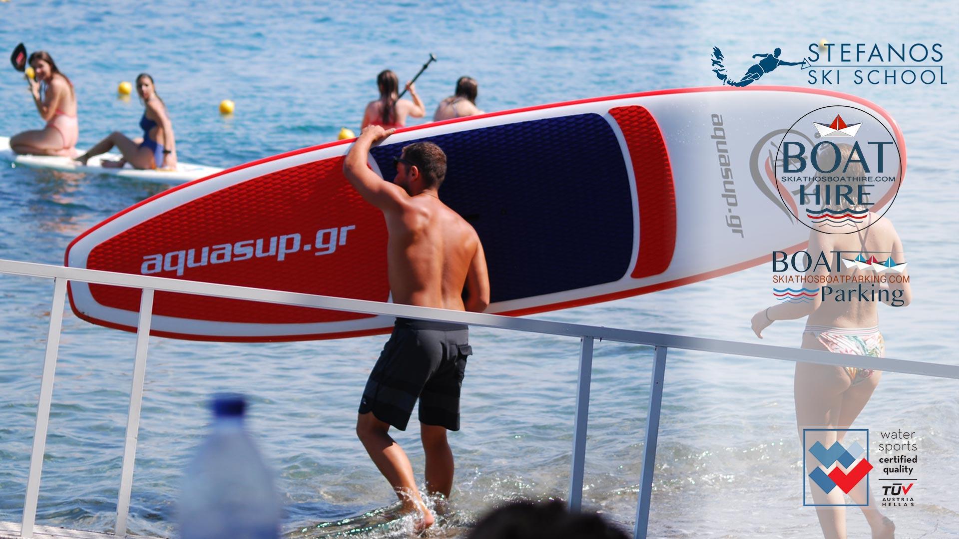 SUP Stand Up Paddle in Skiathos @stefanosskischool
